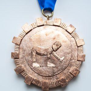 Warre Mulder: 'De Held Zwemt Altijd Stroomopwaarts, Bronze' (2017)