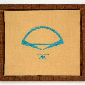 Mathias Prenen: 'Untitled (embroidered architecture, Brazil, blue)' (2018)