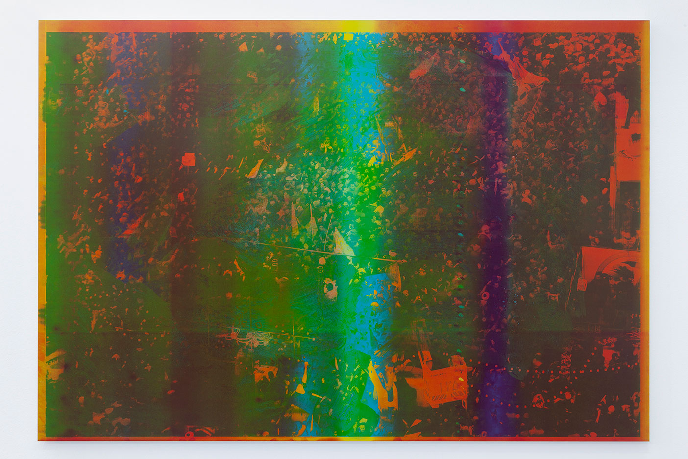 2---Emmanuel-Van-der-Auwera,-Memento-24-(Study-for-Tehran-I),-2020,-Newspaper-.3mm-aluminum-offset-plate-mounted-on-aluminum-frame,-69-x-99-x-2.5-cm-27-1_8-x-39-x-1-in
