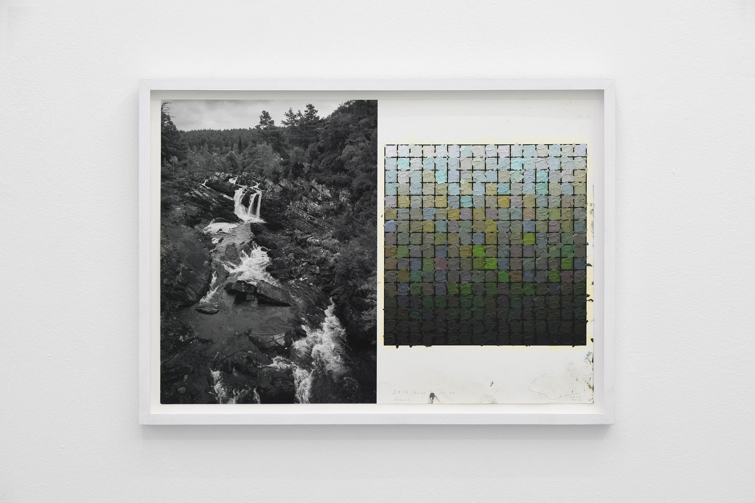 STIJN COLE, Souvenir - Ecosse 21_08_2018 14h15, 2018, Oil on inkjetprint, 33,2 x 45,8 cm (framed)
